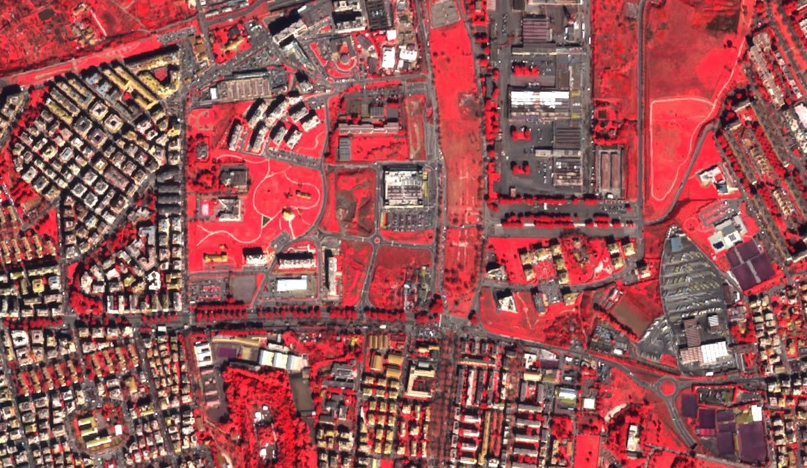 False color composite of Rome